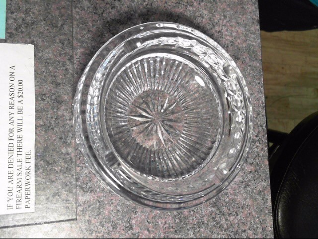 LEAD CRYSTAL ASH TRAY VEERY HEAVY
