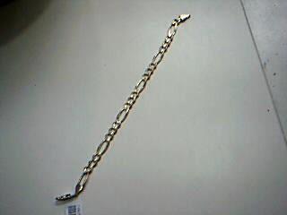 Gold Figaro Bracelet 14K Yellow Gold 12.4g