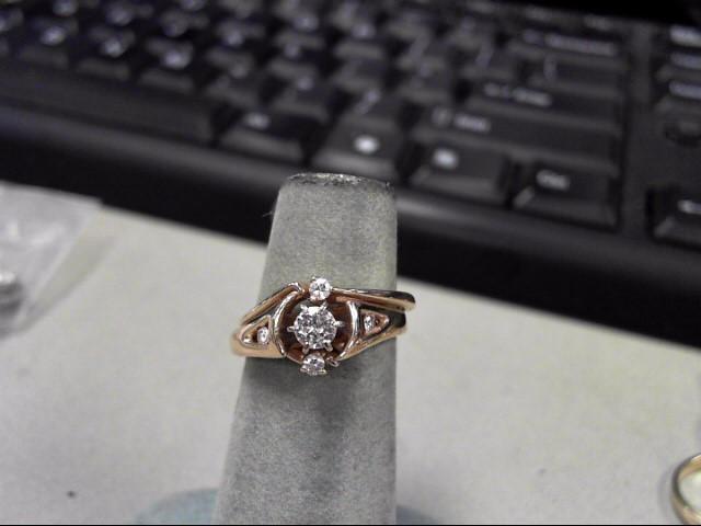 Lady's Diamond Wedding Set 5 Diamonds .32 Carat T.W. 14K Yellow Gold 4.9g