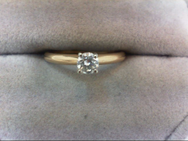 Lady's Diamond Engagement Ring .19 CT. 14K Yellow Gold 1.6g