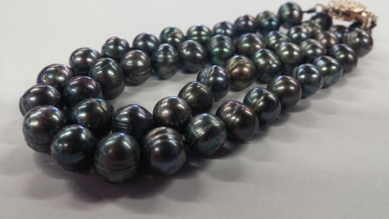 """7"""" DOUBLE STRAND TAHITIAN PEARL NECKLACE"""