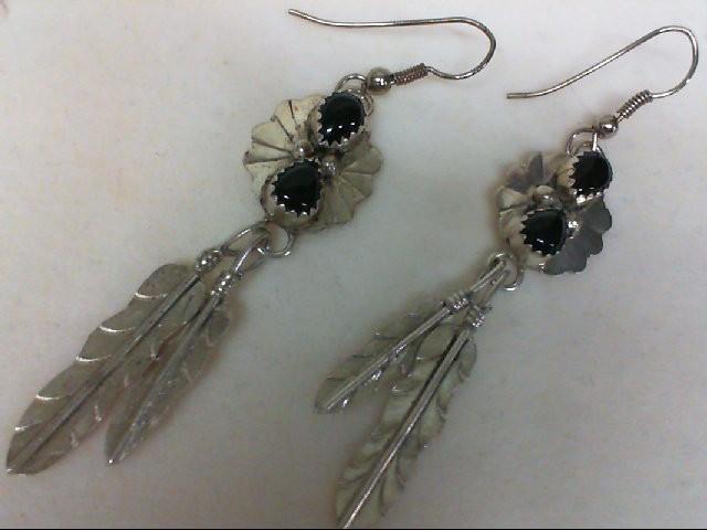 Onyx Silver-Stone Earrings 925 Silver 6.7g