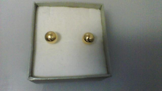 Gold Earrings 14K Yellow Gold 0.6g