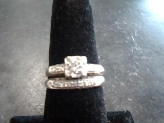 Lady's Diamond Cluster Ring 12 Diamonds .14 Carat T.W. 14K White Gold 2.8dwt