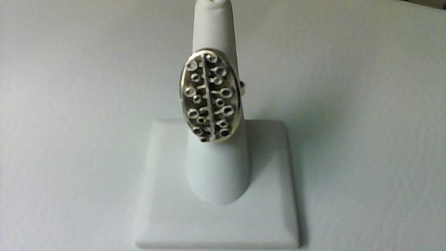 Black Enameled Ring 925 12.1g