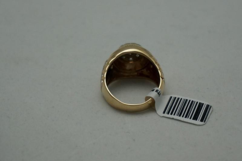 Gent's Diamond Cluster Ring 7 Diamonds 1.05 Carat T.W. 14K 2 Tone Gold 7.1dwt
