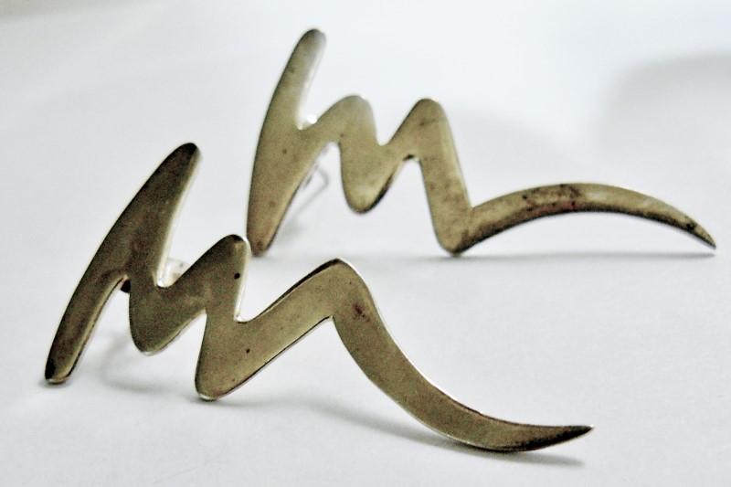 Silver Earrings 925 Silver 4.7dwt