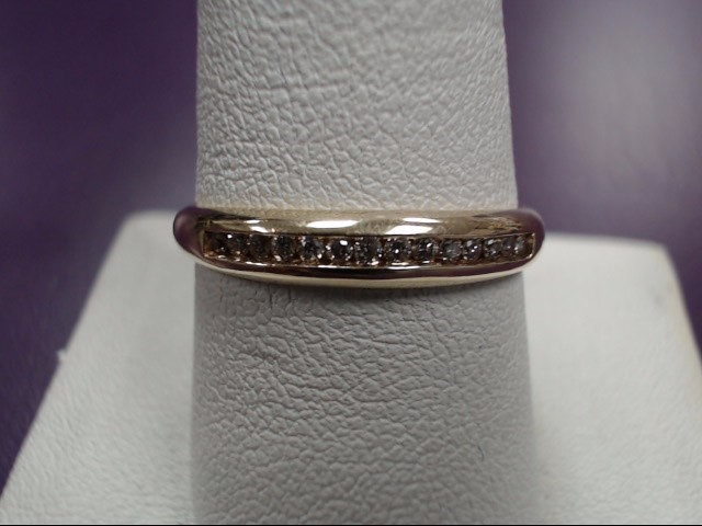 Gent's Gold-Diamond Wedding Band 14 Diamonds .28 Carat T.W. 14K Yellow Gold