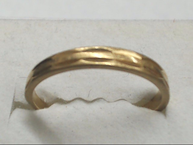 Lady's Gold Wedding Band 10K Yellow Gold 1.5g Size:7.5