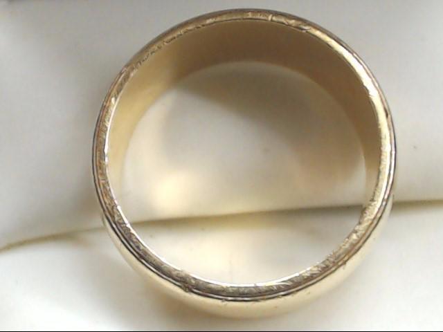 Lady's Gold Wedding Band 14K Yellow Gold 7.8g Size:7