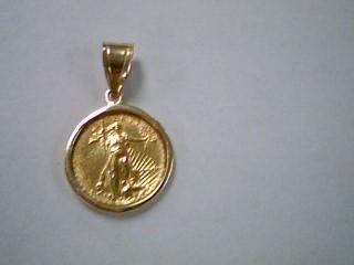 Gold Pendant 14K Yellow Gold 4.5g