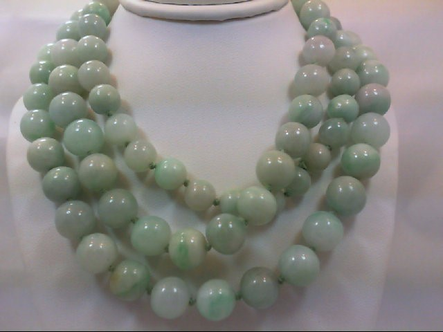 Synthetic Jade Stone Necklace 0g