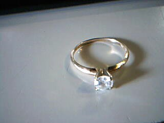 Lady's Diamond Engagement Ring .50 CT. 10K Yellow Gold 1.3g