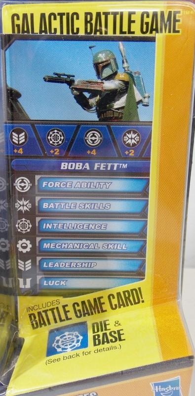 STAR WARS SAGA LEGENDS, BOBA FETT, SL30, INCLUDES GALACTIC BATTLE GAME, NEW