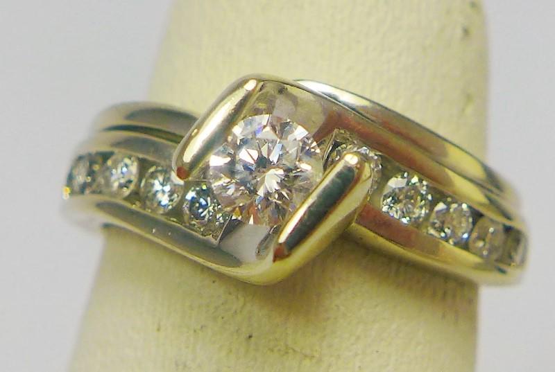Lady's Diamond Wedding Band 11 Diamonds .30 Carat T.W. 14K White Gold 4.2g