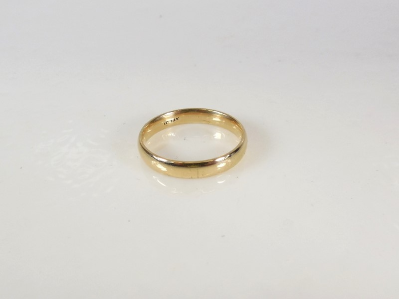Gold Band 14K Yellow Gold 4g Size:10