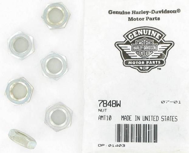 HARLEY DAVIDSON 7848W,  CLUTCH ADJUST NUT-BT ** SOLD BY 1 EACH**