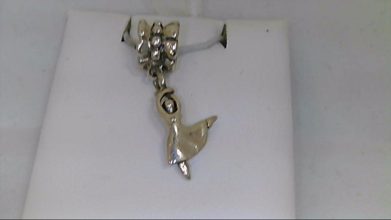 New Reflections Ballerina Dangle Charm QRS1148 925 Silver 1.9g