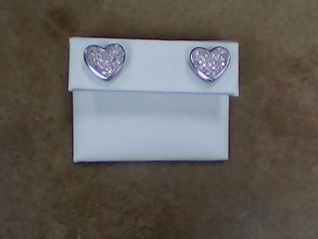 Pink Stone Silver-Stone Earrings 925 Silver 3.1g