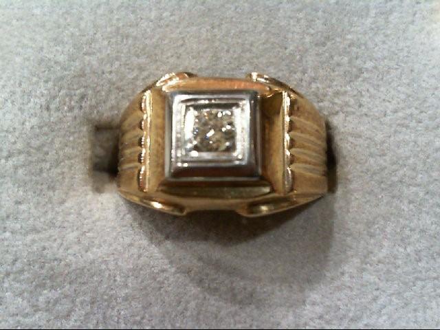 Gent's Diamond Fashion Ring .15 CT. 10K Yellow Gold 4.2g
