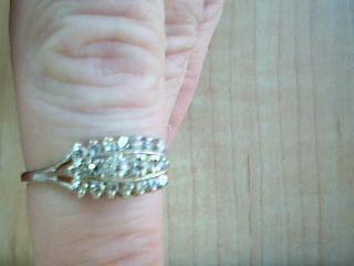 Lady's Diamond Fashion Ring 19 Diamonds .65 Carat T.W. 14K White Gold 2.7g