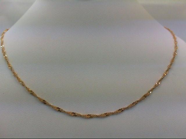 "18"" Gold Fashion Chain 14K Yellow Gold 2.2g"