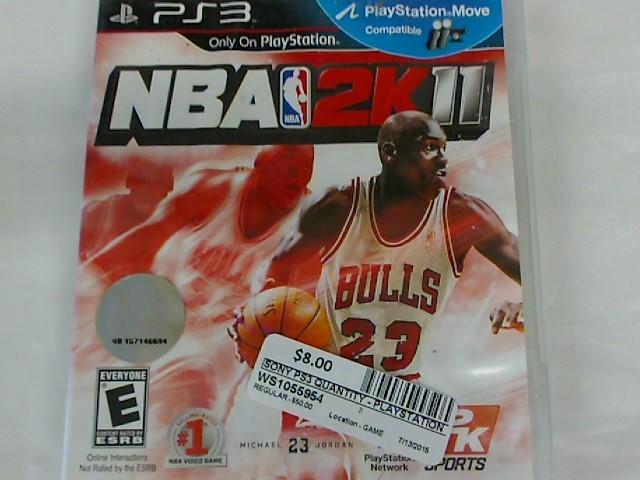 NBA 2K11-PS3 GAME