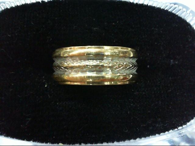 Lady's Gold Wedding Band 14K 2 Tone Gold 4.2g