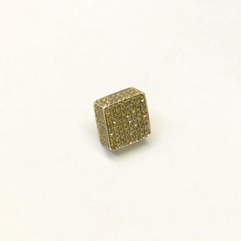Gold-Yellow Diamond Earrings 160 Diamonds 1.60 Carat T.W. 10K Yellow Gold 1dwt