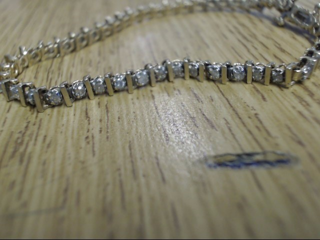 Gold-Diamond Bracelet 46 Diamonds .46 Carat T.W. 14K Yellow Gold 6.3g