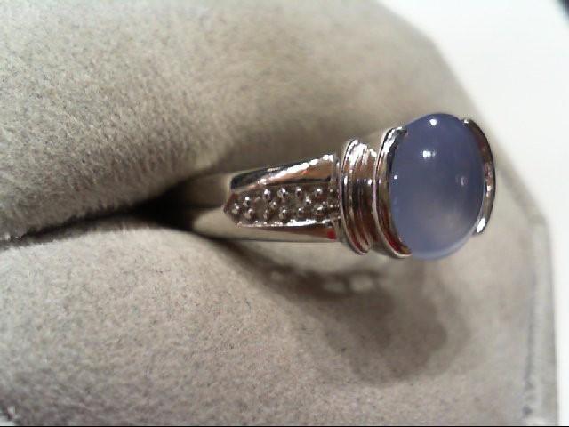 Lady's Diamond Fashion Ring 4 Diamonds .020 Carat T.W. 14K White Gold 3.7g