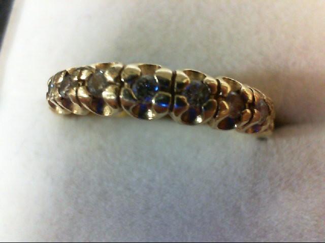 Lady's Diamond Wedding Band 7 Diamonds 0.21 Carat T.W. 14K Yellow Gold 3.6g