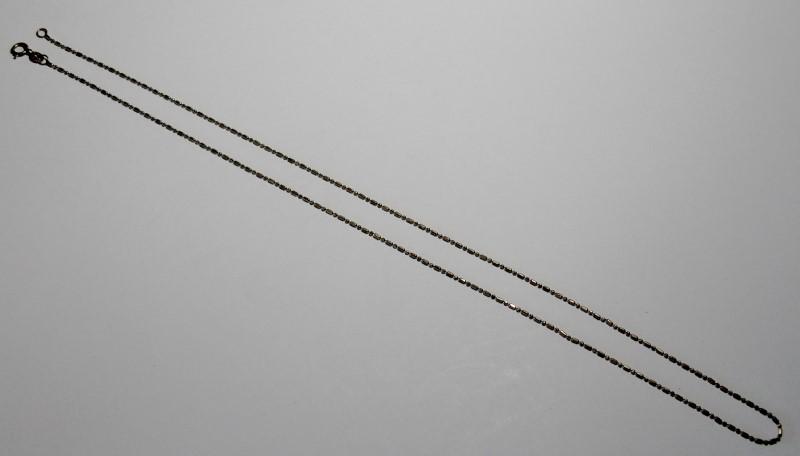 "18"" Fine Bar & Bead Chain 14K Yellow Gold 1dwt"