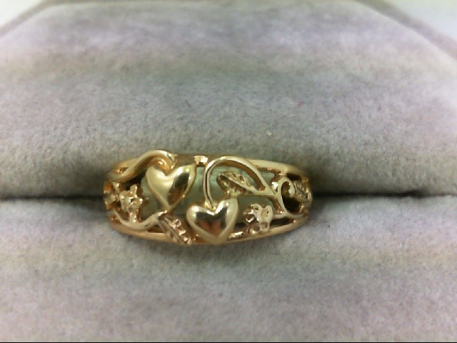 Lady's Gold Ring 14K Yellow Gold 2.3g Size:4
