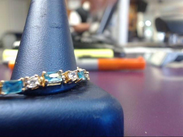 Blue Stone Silver-Stone Bracelet 925 Silver 11.2g