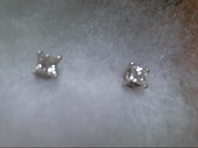 Gold-Diamond Earrings 2 Diamonds .50 Carat T.W. 14K White Gold 0.1g