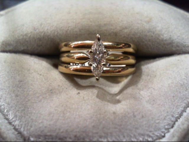 Lady's Diamond Wedding Set .25 CT. 14K Yellow Gold 3.5g