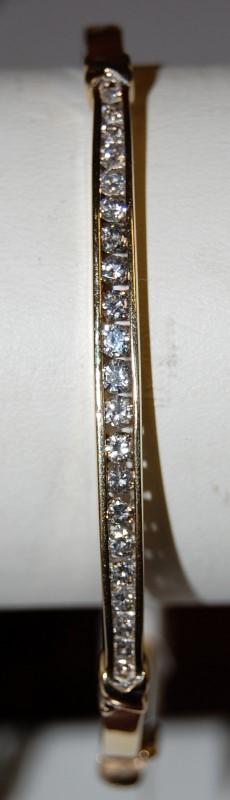 "14K Yellow Gold 8.5"" Diamond Bracelet 10.4G 0.97CTW"