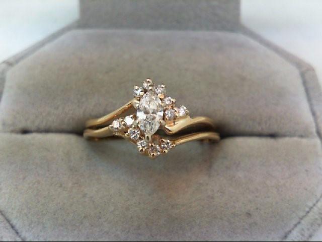 Lady's Diamond Wedding Set 13 Diamonds .49 Carat T.W. 14K Yellow Gold 3.2g