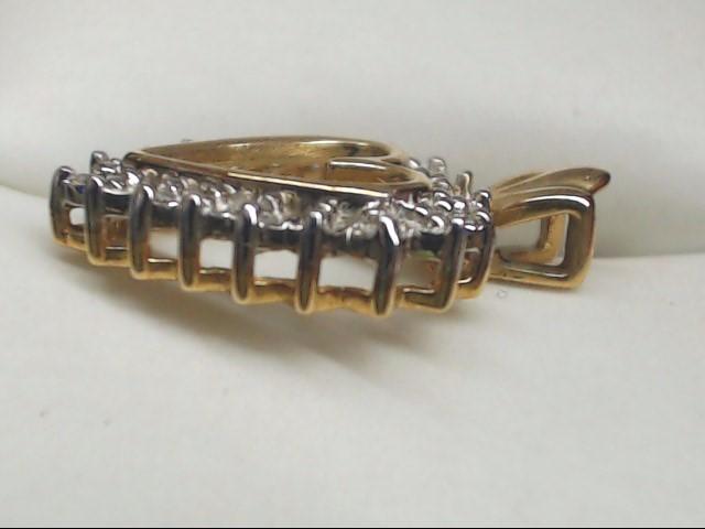 Gold-Multi-Diamond Pendant 10 Diamonds .10 Carat T.W. 10K Yellow Gold 1.9g