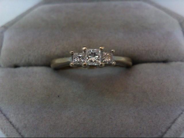 Lady's Diamond Wedding Band 3 Diamonds .40 Carat T.W. 18K White Gold 4.1g