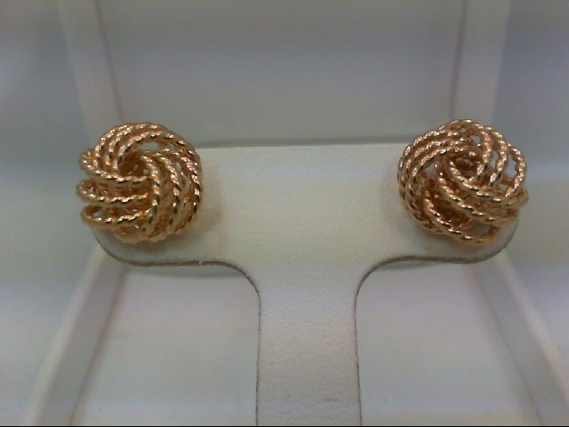 Gold Earrings 14K Yellow Gold 2.9g