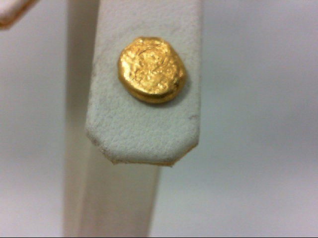 Gold Earrings 24K Yellow Gold 1.5g