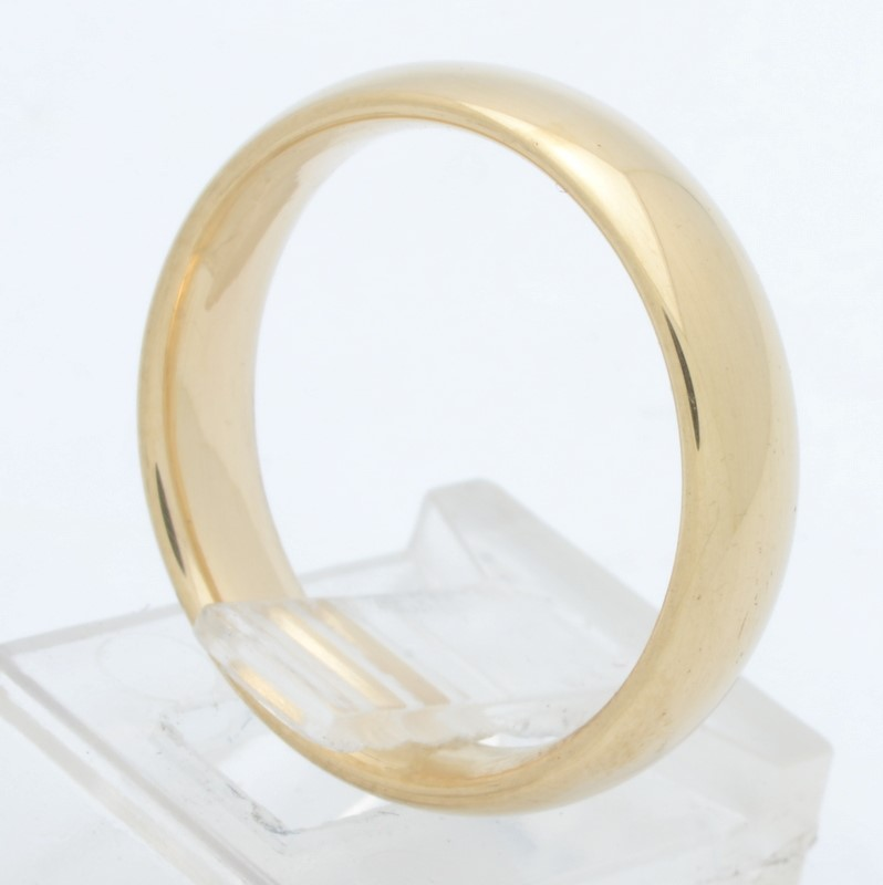 ESTATE WEDDING RING BAND SOLID 14K GOLD MENS 5MM PLAIN COMFORT SZ 7.5