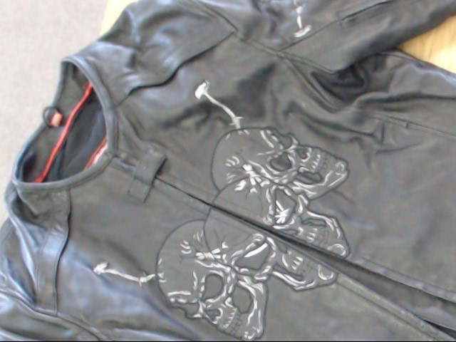 FIRST RACING  Clothing LEATHER BIKER SKULL JACKET