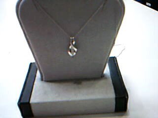 Diamond Necklace 3 Diamonds .03 Carat T.W. 10K White Gold 1.1g