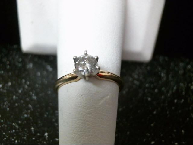 Lady's Diamond Solitaire Ring .45 CT. 14K Yellow Gold 2g Size:6