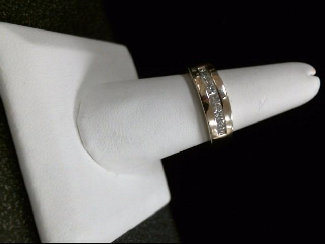 Gent's Gold-Diamond Wedding Band 9 Diamonds .36 Carat T.W. 14K White Gold 5.8g