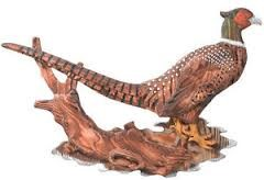 REGAL ART & GIFT 10402 WOOD WALL PLAQUE PHEASANT IN FALL WOOD LANDS