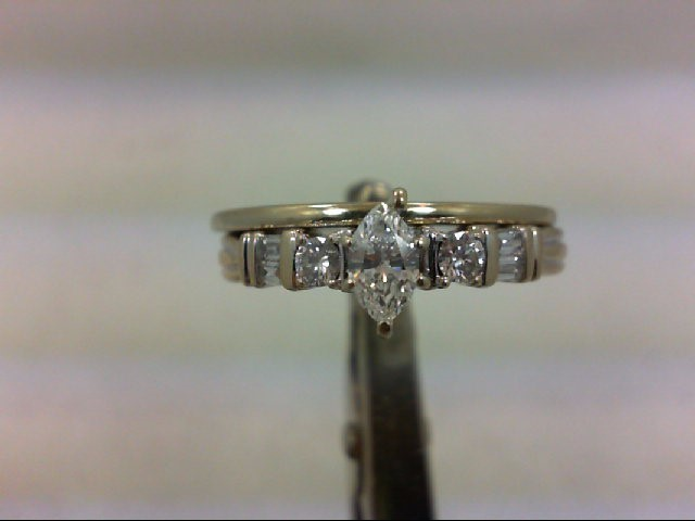 Lady's Diamond Wedding Set 7 Diamonds .49 Carat T.W. 14K White Gold 5.67g